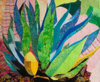genevieve guadalupe agave azul artquilt 101,5x126cm 2011