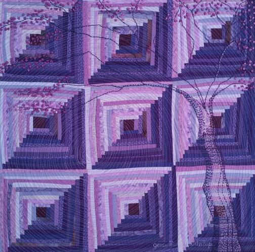 genevieve guadalupe alma de primavera artquilt 35x35cm 2015