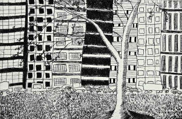 genevieve guadalupe buenos aires etching 10x15cm 2017
