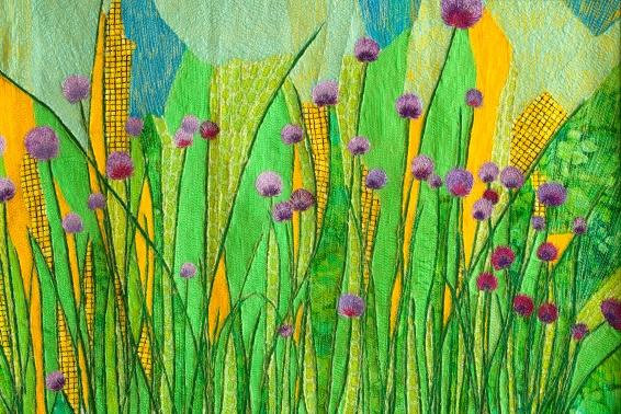 genevieve guadalupe ciboulette artquilt 46x67cm 2011