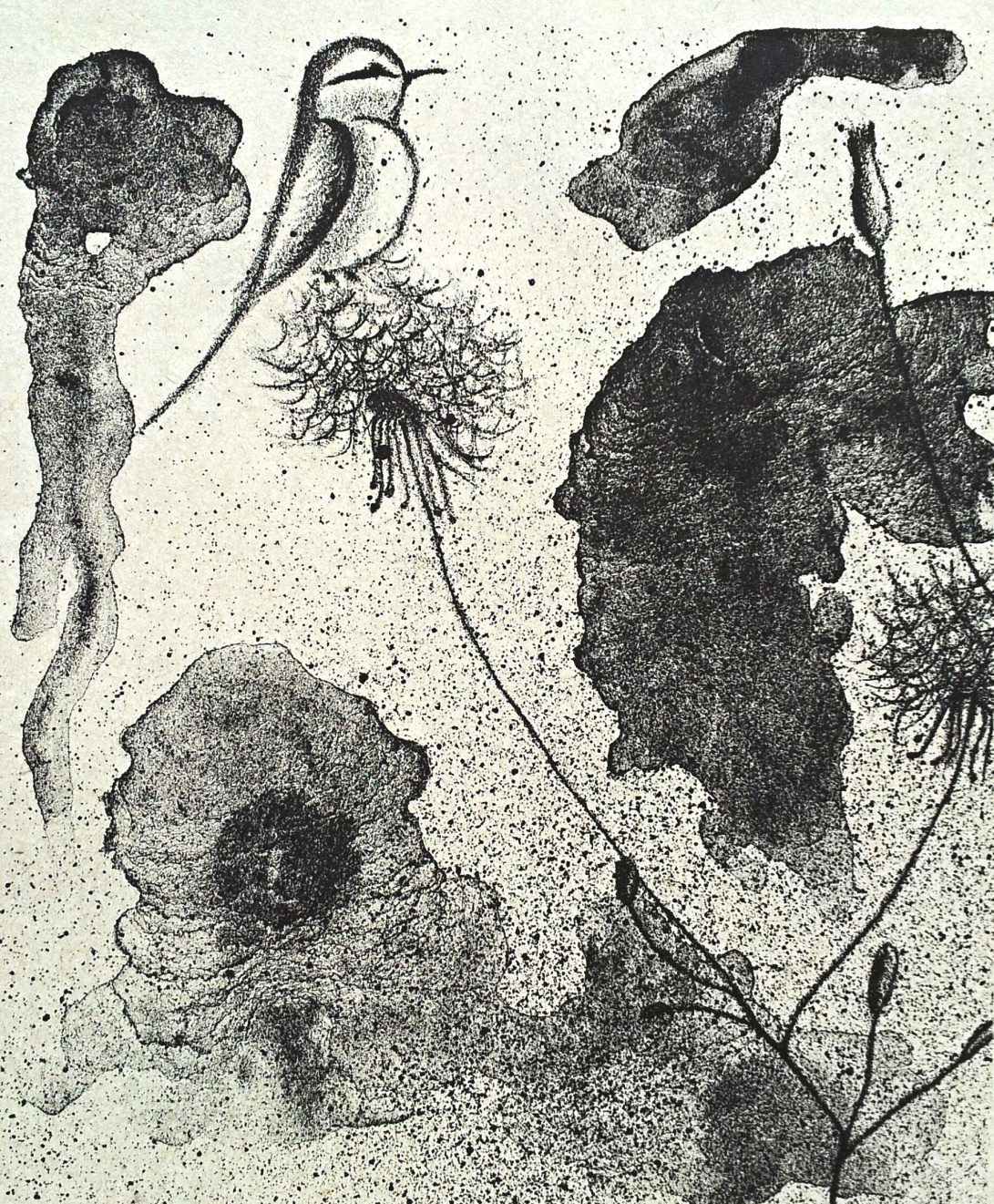 genevieve guadalupe. Filomeno. lithograph. 2017. 8.5x7''. 22x18cm.