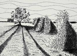 genevieve guadalupe hacia el paso de cortez etching 15x20cm 2017