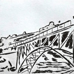genevieve guadalupe medgley bridge etching