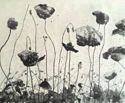 genevieve guadalupe poppy lithograph 28x35,5cm 2017