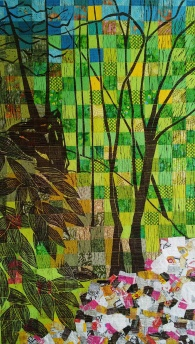 genevieve guadalupe reflecting on us artquilt 130x75cm 2015