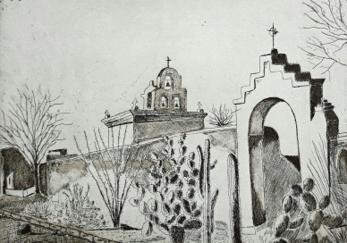 genevieve guadalupe san xavier etching