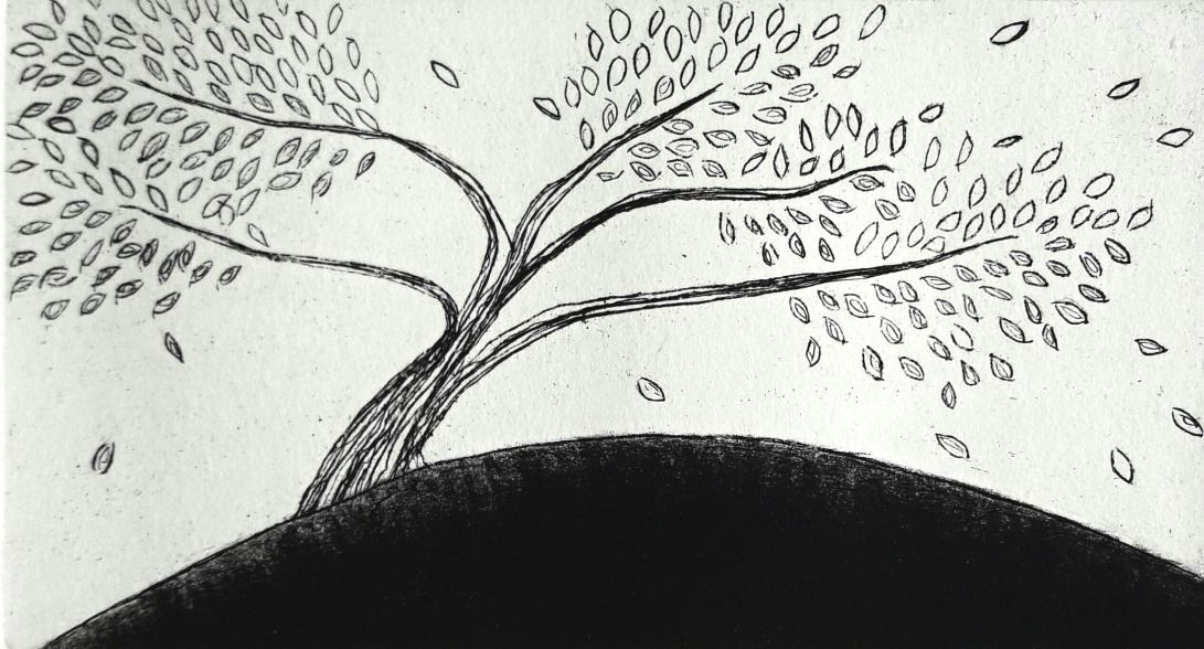 genevieve guadalupe stormy intaglio-mezzotint 12,5x7cm 5x2.75'' 2017