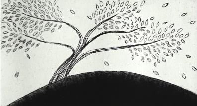 genevieve guadalupe stormy etching mezzotint 12,5x7cm 2017