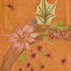 genevieve guadalupe summer wreath artquilt 19,5x19,5cm
