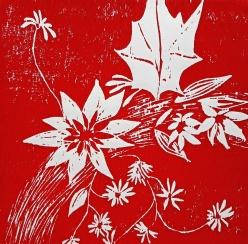 genevieve guadalupe summer wreath woodcut