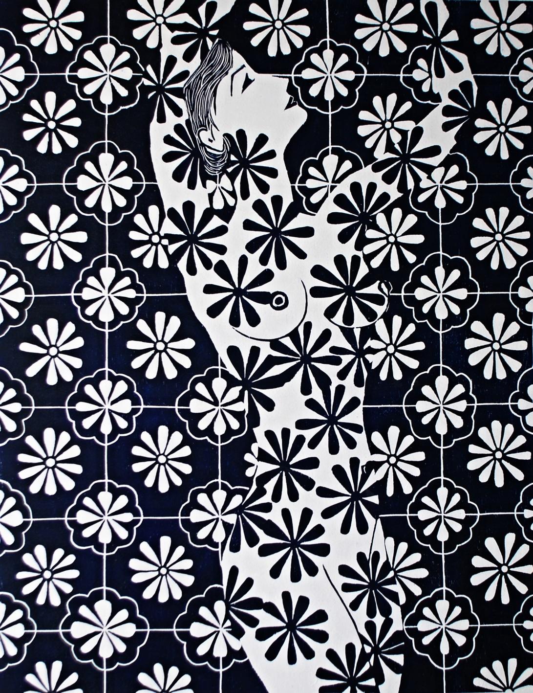 genevieve guadalupe talaveras woodcut 89x69cm 2016