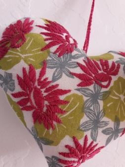 genevieve guadalupe hearts woodcut printed fabric and embroidery
