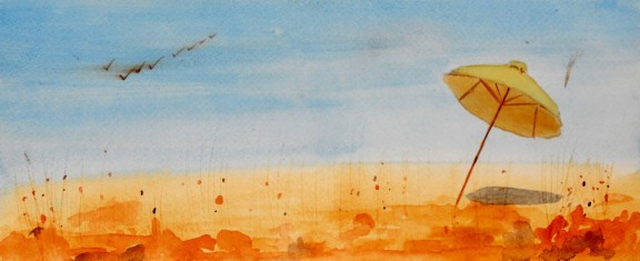 genevieve guadalupe summer's end watercolor 16,5x35,5cm