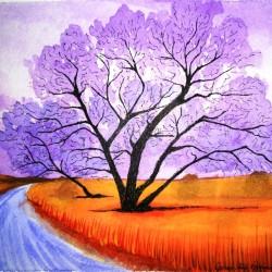 genevieve guadalupe de la O road watercolor 18x25,5cm