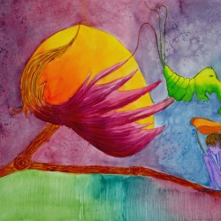 genevieve guadalupe cotton witch watercolor 42x55cm