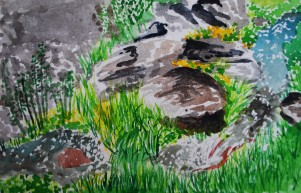 genevieve guadalupe enchanted stream watercolor