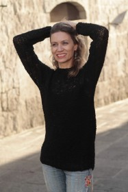 genevieve guadalupe black alpaca sweater