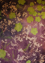genevieve guadalupe botanical3 monoprint on fabric quilted 122x87,5cm 2018