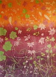 genevieve guadalupe botanical4 monoprint on fabric quilted 122x87,5cm 2018