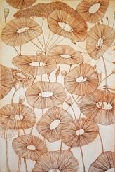 genevieve guadalupe fera flores engraving sepia 60x40cm 2019