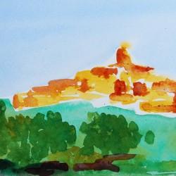 genevieve guadalupe souvenir de provence watercolor