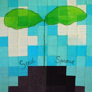 genevieve guadalupe seed sprout artquilt 15x15 2020