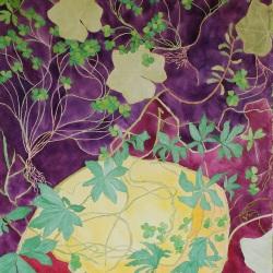 "genevieve guadalupe utero botanica watercolor 40x28"" 102x71cm 2018"